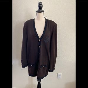 ST. JOHN Collection by Marie Gray Cardigan Sweater
